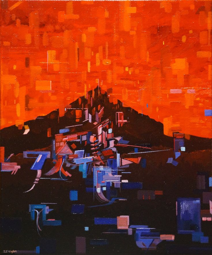 'To a Warm Place', oil on canvas, 30.5 x 25.3cm. www.jeremyelkington.weebly.com For sale at: www.bluethumb.com