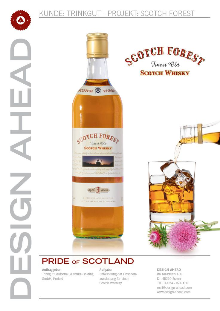 Packaging Design Scotch Forest Whisky