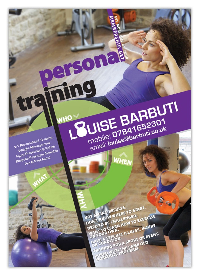 advertising  poster  personal  training