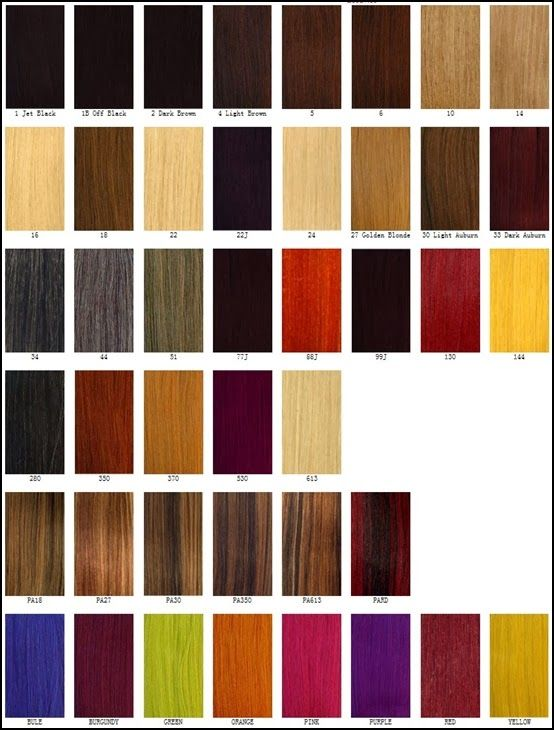 Basis color chart.Different Blonde,brown,red,dark hair ...
