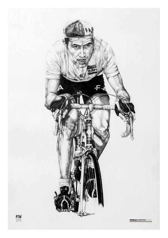 Merckx Cancellara Cavendish Cycling A2 limited edition art prints Sagan
