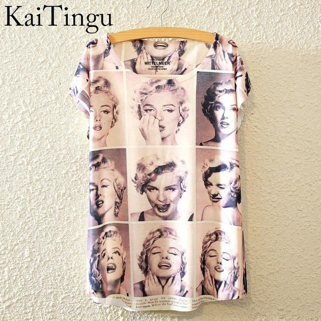 Marilyn Monroe Graphic Print Short Sleeve T-Shirt