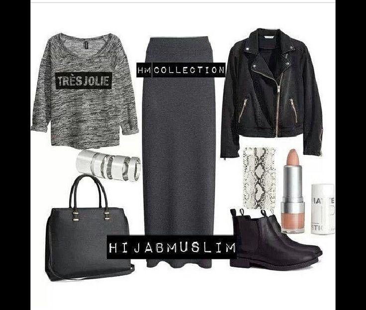 Casual outfit idea #hijab
