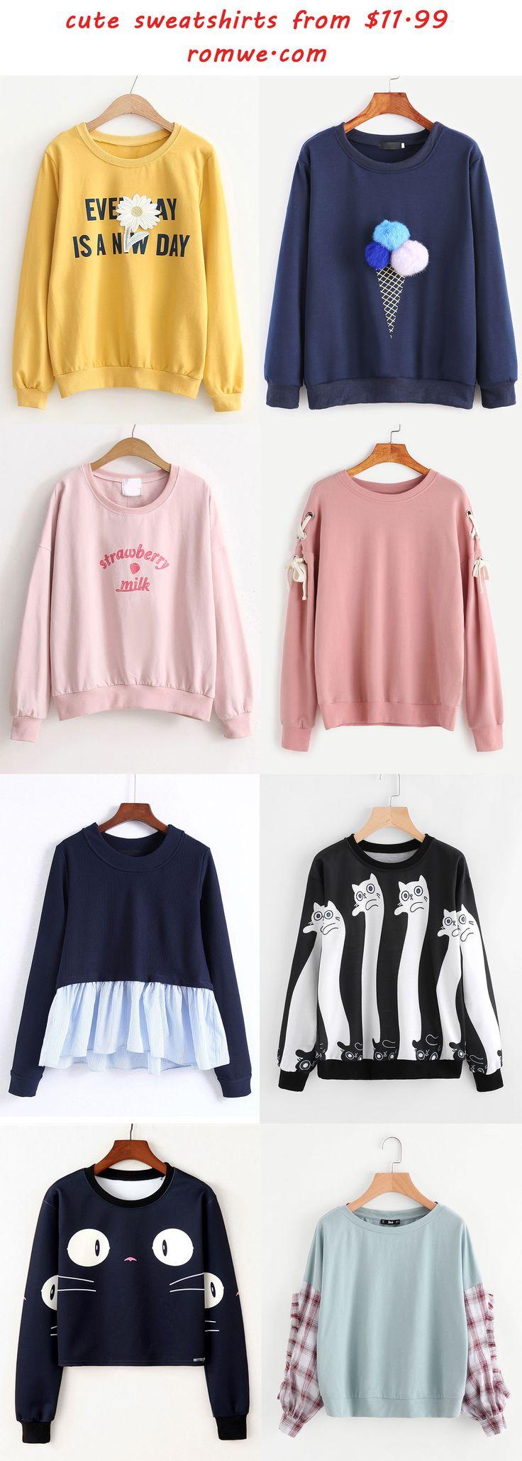 cute sweatshirts - romwe.com