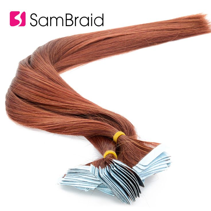 SAMBRAID Straight Tape In Hair Extension Pure Colo…