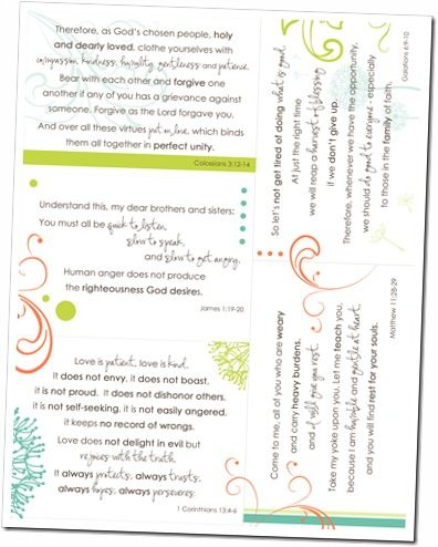 Printable scripture cards for weary moms...beautiful!