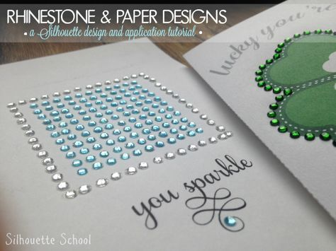 Applying Rhinestones to Paper (and a Silhouette CAMEO Print and Cut Rhinestone…