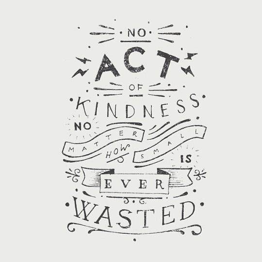 Kindness all around!
