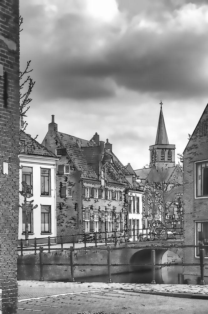 Historical Amersfoort cartoon by Watze D. de Haan