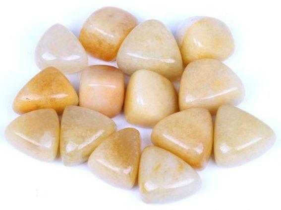 (half)edelsteen gele jade, alle soorten,  sieraden en losse stenen, sieraad, hanger, armband, oorbellen, ring, trommelsteen gele jade
