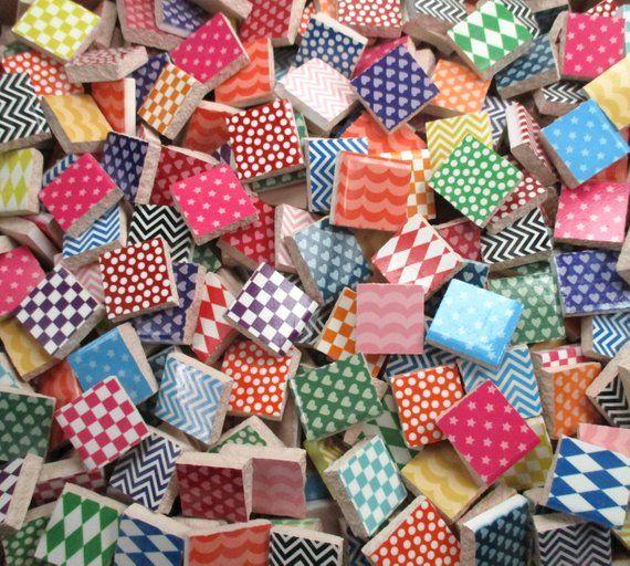 Bulk Mosaic Tiles 2 Pounds Mixed Bright Colors Designs Etsy Mosaic Art Supplies Mosaic Tiles Mosaic Art