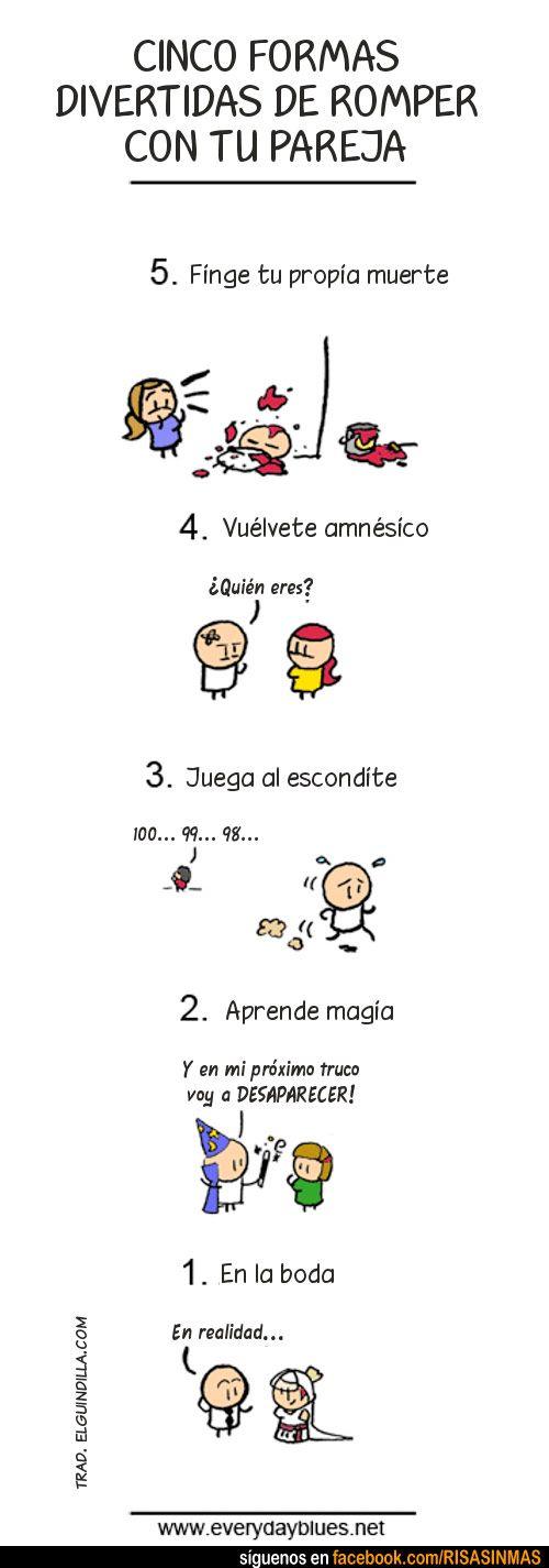 Imperativos para romper con su pareja; how to - good for commands and subjunctive; relaciones personales