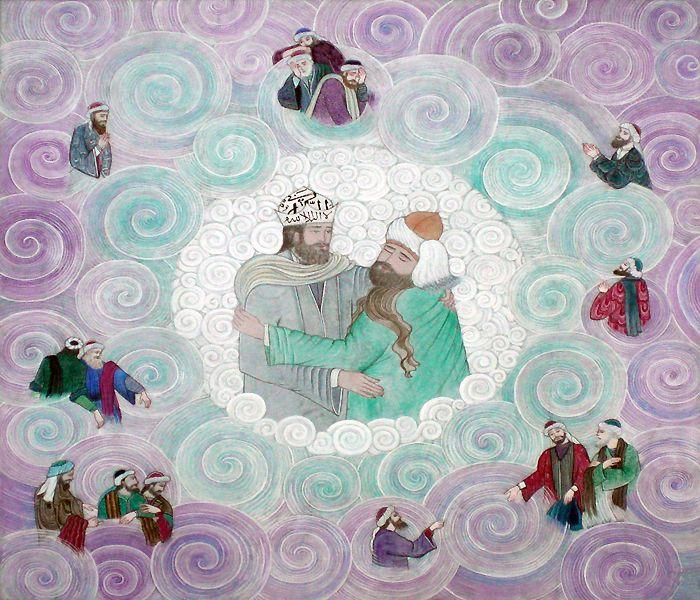 Mevlana ve Şems Kavuşma   Mevlana   Collections   Fine Islamic Arts   Şermin Ciddi