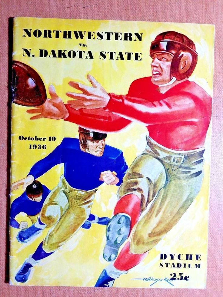 1936 northwestern wildcats football program vs n dakota