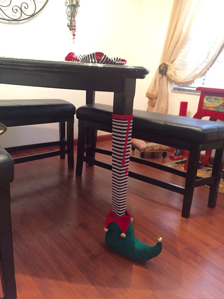 Enamorada de mi pierna de duende para estas navidades