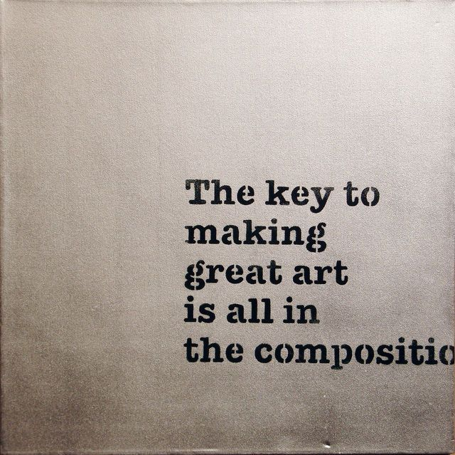 Banksy, 'The Key to Making Great Art is all in the Composition,' 2005, Lazarides