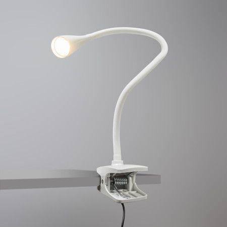 Klemmleuchte Swan weiß #Tischleuchte #Bürolampe #Nachttischlampe #Lampe