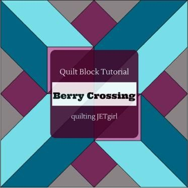 Berry Crossing Quilt Block Tutorial