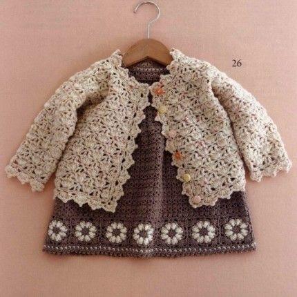 Little Girl Crochet Cardigan - Free Crochet Diagram