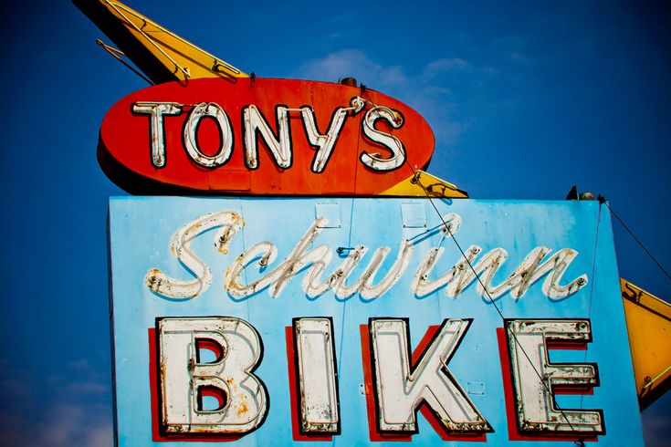 Vintage Tony's Schwinn Bike Neon Sign - Los Angeles