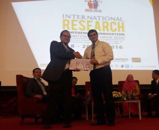 Dr. Mohammadamin Azimi Won Gold Award at International Research Conference and Innovation Exhibition (IRCIE2016) | Photos