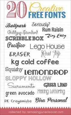 20 Free Creative Fonts