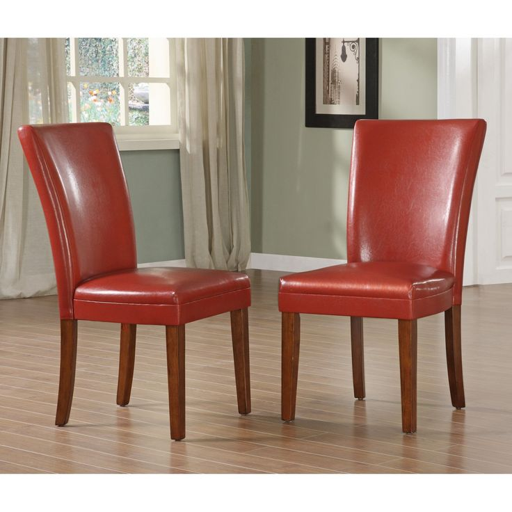 Exceptional Achillea Red Parsons Chair   Set Of 2   $217.99 @hayneedle