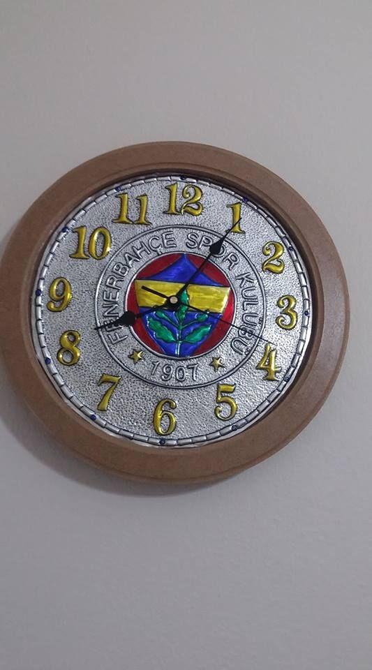 Folyo kabartma tekniği ile yaptığım Fenerbahçe saati