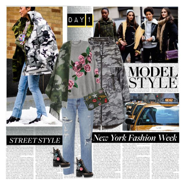 NYFW Day 1 Street Style The Model Look by stylepersonal on Polyvore featuring polyvore, fashion, style, Ivy Park, RE/DONE, clothing, StreetStyle, NYFW and models