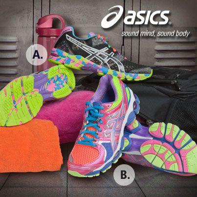 Which new ASICS shoe would you wear? A) Gel-Noosa, or B) Gel-Nimbus?