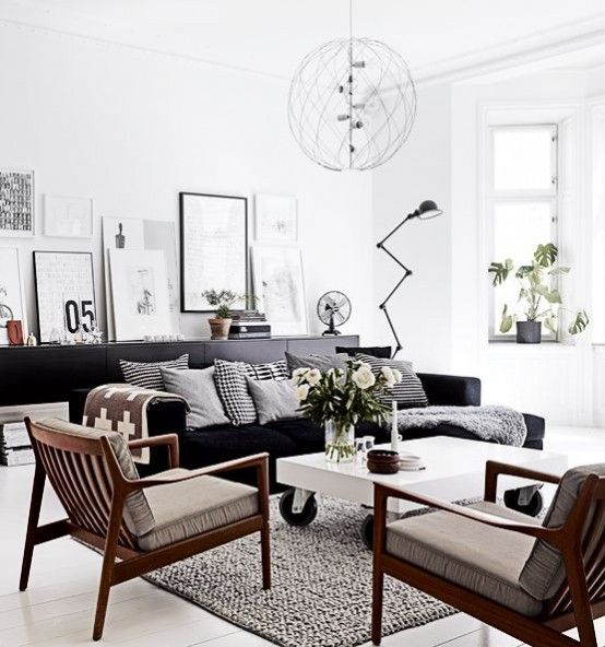 Obývací pokoje ve skandinávském stylu jako trend pro rok 2014