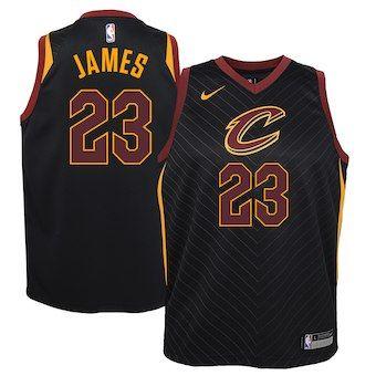 19c97970 LeBron James Cleveland Cavaliers Nike Youth Swingman Jersey Black -  Statement Edition
