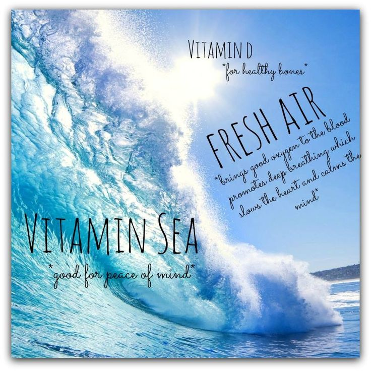 All I Need Is Vitamin Sea Fresh Air Ocean Quote Sunshine Sea Breeze White Sand Salt