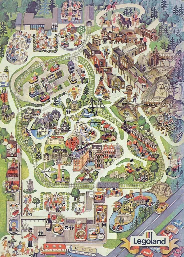 Map of LEGOLAND- I can't wait to go... Byran doesn't know it yet but this will be the best 10th birthday ever!!!