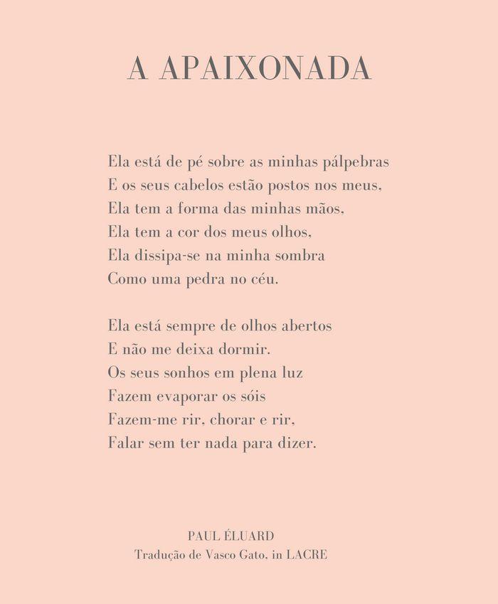 In other words: hoje, com Paul Éluard, numa tradução de Vasco Gato