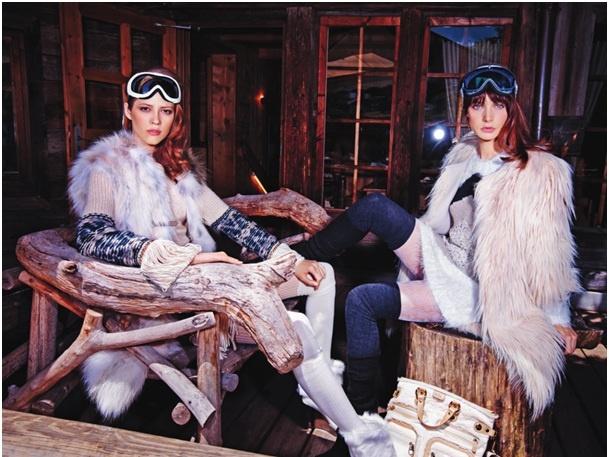 Le Chalet des Fermes, Megève // Vogue Italia, November 2012, by Steve Hiett http://en.chalets.fermesdemarie.com/702-chalet-des-fermes.htm