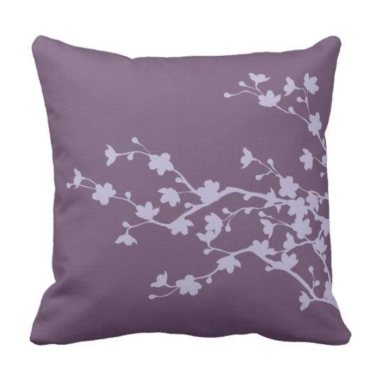 Mauve Blossoms 2 Cushion