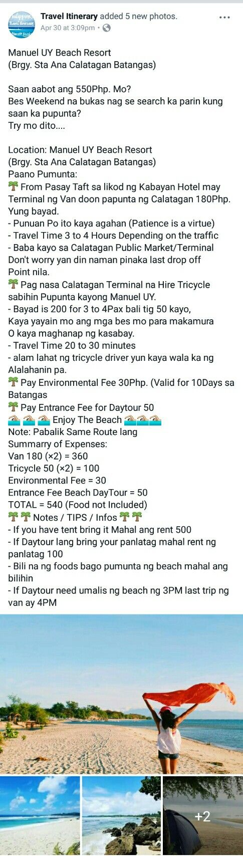 Manuel Uy Beach Resort Brgy Sta Ana, Calatagan Batangas