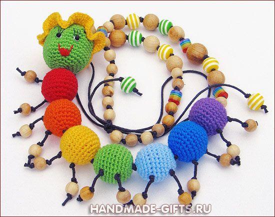 "Necklace ""Rainbow сaterpillar"""
