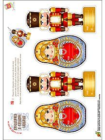 Découpage du Noël Russe pour enfants sur HugoLescargot.com