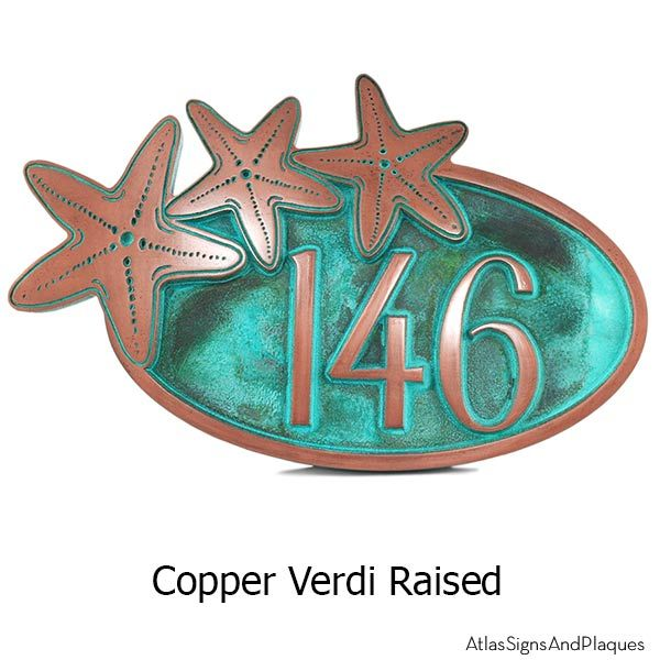 Starfish Oval Address Plaque House Numbers Would Look Awesome On A Beach Or Anywhere Tropical By The Ocean Available In 16 Finis