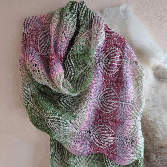 #Wraps#Woolscarf#Briochestitch#Fashionablestole#Women'stippet#Briocheknitting#Scarf#Knittedshawl#Knittedstole#Originalscarf#Alizeangoragold#scarfbrioche#Bigscarf