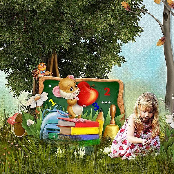 School Forest by Kitty Scrap Photo Anastasiya Landa