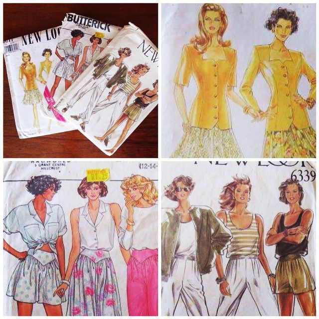 Aren't these ladies rocking it?! I picked up these #sewing #patterns (and a few other things) a couple of weeks ago. I am planning on making a midi-skirt and the joggers. Find out what else I bought in my latest thrifting haul blog post!