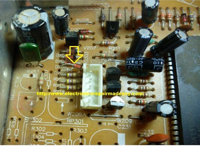 Electronics Repair Made Easy Aucma Crt Television Screen Blank But Power On Led Lighted Crt Tv Crt Screen