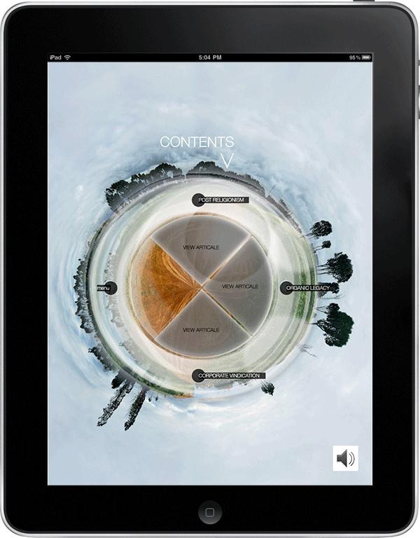 NYQ iPad app magazine 2012   (interactive publishing) by viwe mfaku, via Behance