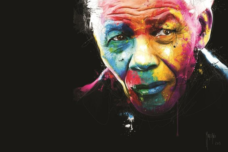 Madiba - our Giant. A beautiful rainbow in the face of the Rainbow Nation's father.