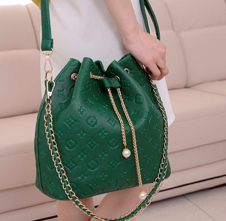 frete grátis 2013 moda vintage balde corrente de impressão sacos de pérola saco do mensageiro bolsa das mulheres frete grátis 16,90