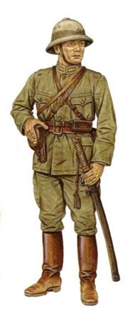 Esercito Imperiale Nipponico - Tenente, 117º Reggimento  Fantería, 108º Divisióne  Fantería, estate del 1938.