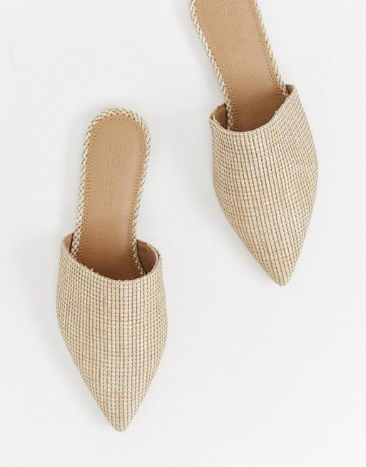 b0d1e64fff447 DESIGN Lorne pointed mules in natural in 2019 | Kick up your heels ...